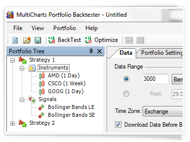 Backtesting of trading strategies group